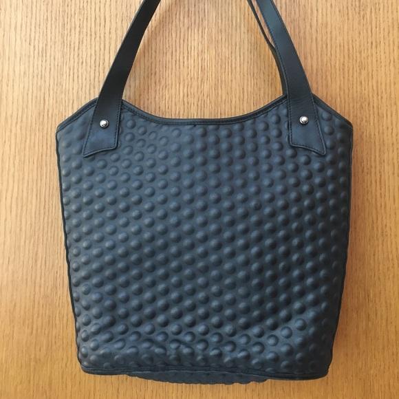 272f7e56c9 andrea valentini Bags   Black Bump Handbag   Poshmark